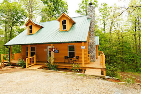 Natural setting for Helen luxury cabin rentals