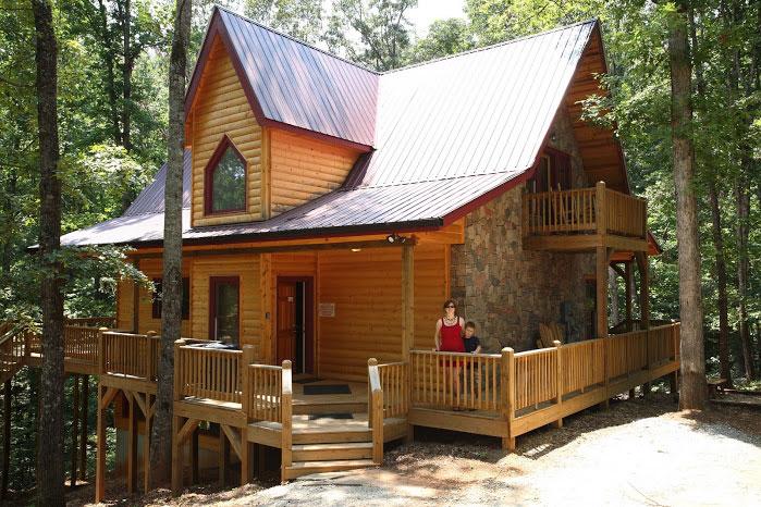 Hickory woods helen ga cabin rentals cedar creek cabin for Helen luxury cabin rentals