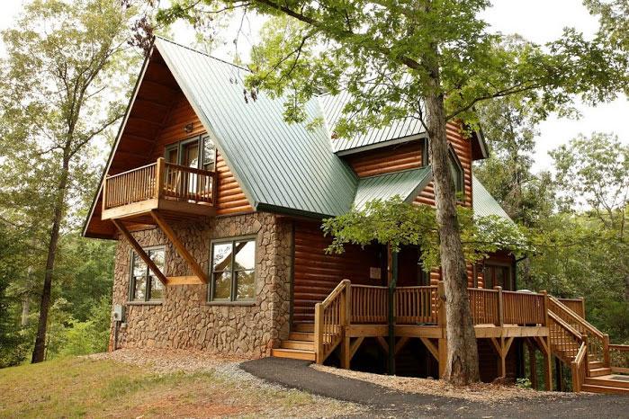 Oak hill helen ga cabin rentals cedar creek cabin for Helen luxury cabin rentals