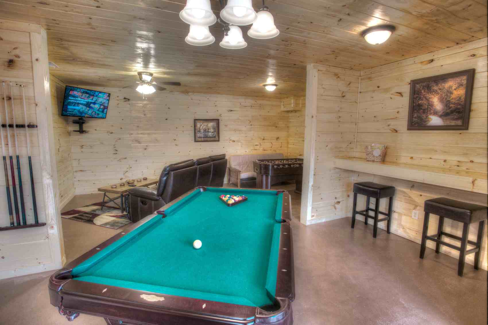 Newly Remodeled Downstairs Pool Table