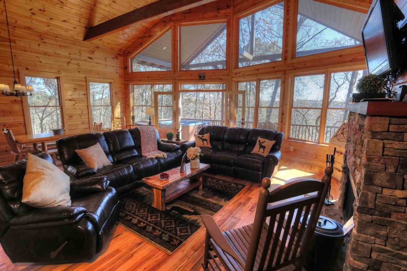 secluded interior lakefront in onlinechange info friendly rent ga cabin pet michigan rentals for cabins georgia